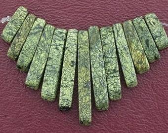 russian jade cleopatra 13 pc fan bead set