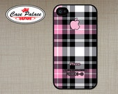 iphone 4 Case - iphone 4S Case Cover - plastic or silicone rubber -tartan plaid pattern