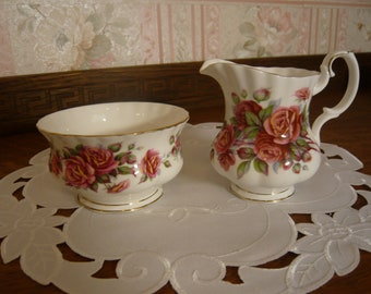 Royal Albert,  Bone China, Centennial Rose Cream and Sugar