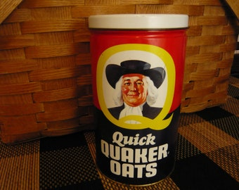 Quick Quaker Oats Tin 1982 Limited Edition  English and French