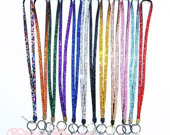 New Colorful Bling Rhinestone Necklace LANYARD Keychain Key / ID / Cell Phone Holder