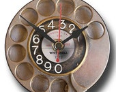 Recycled CD Clock - Retro Telephone Dial C