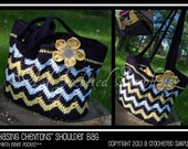 """Crochet Pattern: """"Chasing Chevrons"""" Shoulder Bag / Purse, Permission to Sell Finished Items"""