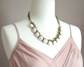 White Faceted Bead Necklace