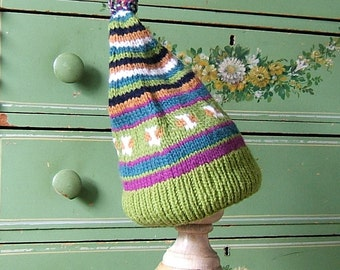 Gifts Under 10, Stocking Stuffer,Adult Snap Dragon Wool Classic Ski Hat Pompom Fair Isle Hat