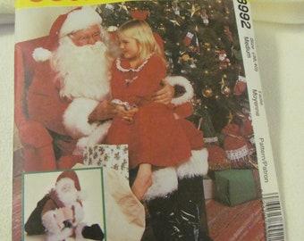 McCall's UNCUT Santa Costume Pattern 8992 Misses or Mens Size Medium