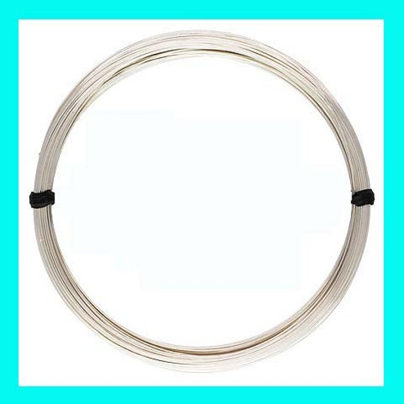 5ft solid 24 gauge Sterling Silver round beading wire bright shiny half hard w24HH