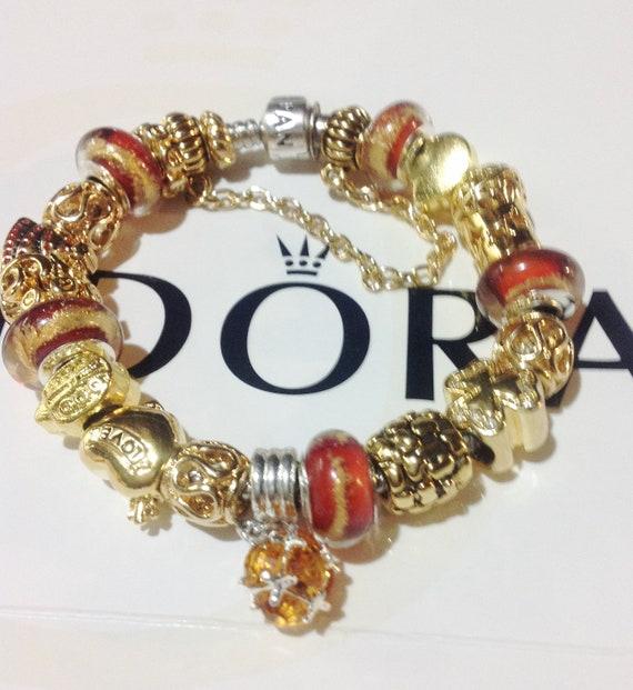 Italian Charm Bracelet Brands: Items Similar To Pandora Charm Bracelet, Authentic