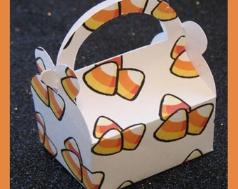 Candy Corn favor box, Halloween candy box, fall favor box , candy corn gift box