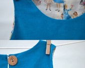 peacock blue jumper - size 5