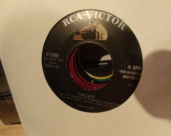 Gene Austin - too late - that's love - rca 47-6880 vinyl 45 record