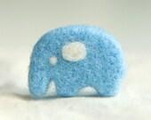 Brooch Needle Felted Elephant Handmade Brooch Baby Blue Kids Brooch