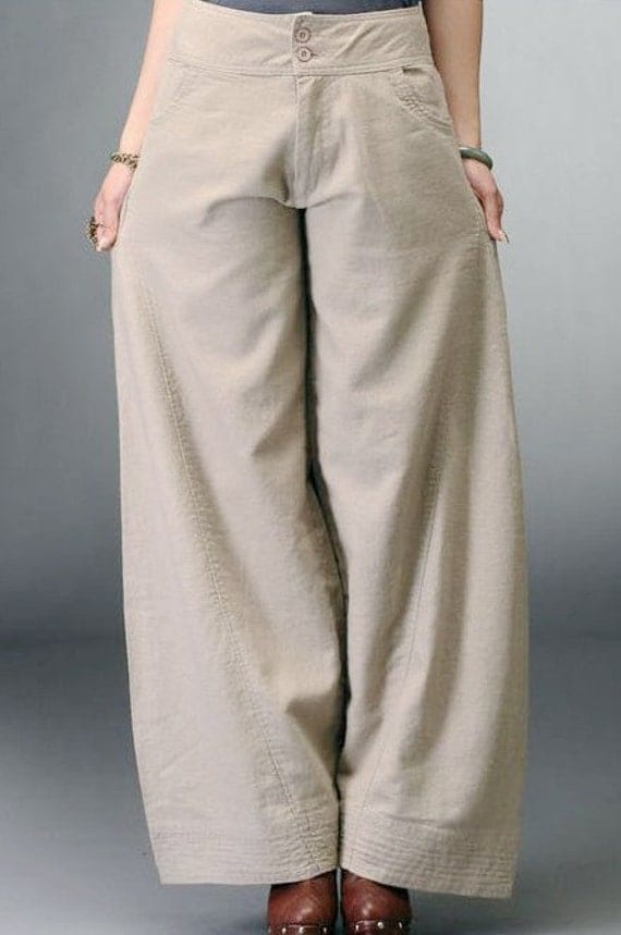 Unique The Roberto Cavalli Womens Pants Trousers Beige Cotton 40 Beige At