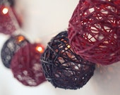 Ten Twine Balls - Wedding Party Decor: To make Hanging or light garland or for table decoration. Choice of colours/ sizes