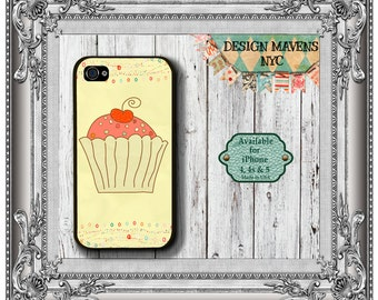 Cupcake iPhone Case, Gift for Her iPhone Case, iPhone 4, 4s, iPhone 5, 5s, 5c, iPhone 6, 6s, 6 Plus, SE, Phone Cover, Phone Case