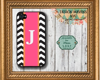 Preppy Monogram iPhone Case, Personalized iPhone Case, Plastic iPhone Case, iPhone 4, 4s, iPhone 5, 5s, 5c, iPhone 6, Phone Case