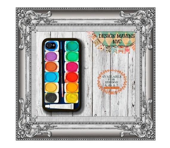 Watercolor Paint Set iPhone Case, Paint iPhone Case,iPhone 4, 4s, iPhone 5, 5s, 5c, iPhone 6, 6s, 6 Plus, SE, Phone Cover, Phone Case