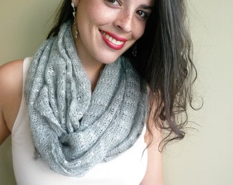 INFINITY SCARF with SEQUINS  , Seafoam  / 737