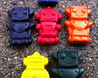 4pk. Robot Crayons