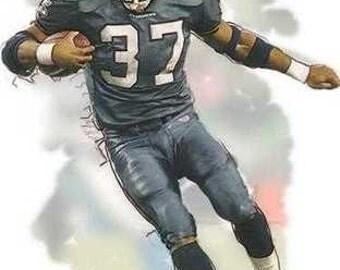 Rare Shawn Alexander Seattle Seahawks NFL MVP Art Print