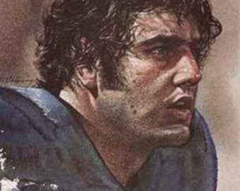 Great Paul Naumoff Detroit Lions Art Print