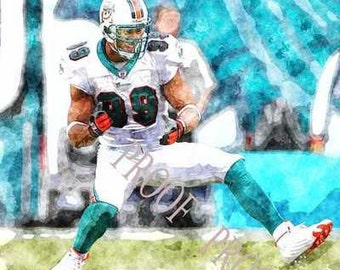 Jason Taylor Watercolor Art Print 12x18 LE of 50 snum
