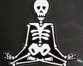 Day of the Dead Art Lotus Pose car sticker. #50/#51