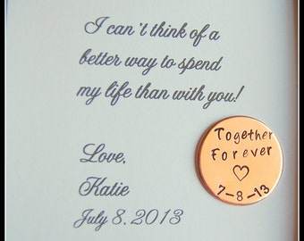 Wedding Day Gift To Groom From Bride : ... forever personalized gift for groom on wedding day bride to groom gift
