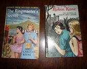 2 Vintage Nancy Drew and Robin Kane Books Hardback 1959 1966 Free Shipping