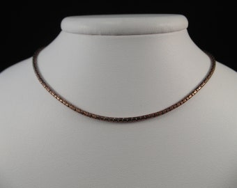 Sterling Silver Copper Colored Lariat