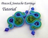 Peacock Soutache Earrings Tutorial PDF