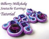 Bilberry Milkshake Soutache Earrings Tutorial PDF