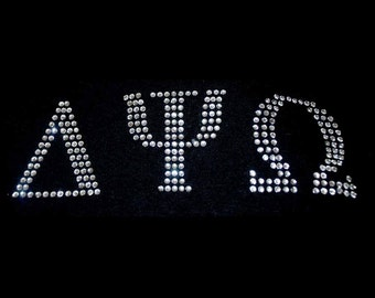 2 inch Greek - Sorority / Fraternity Rhinestone Letter, many colors available