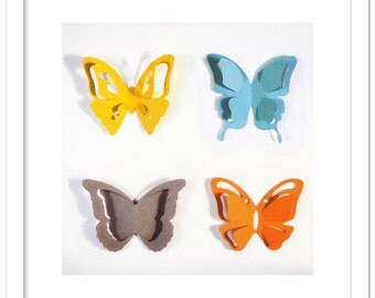 3D Pop out butterflies cutting file in SVG, DXF, PDF formats