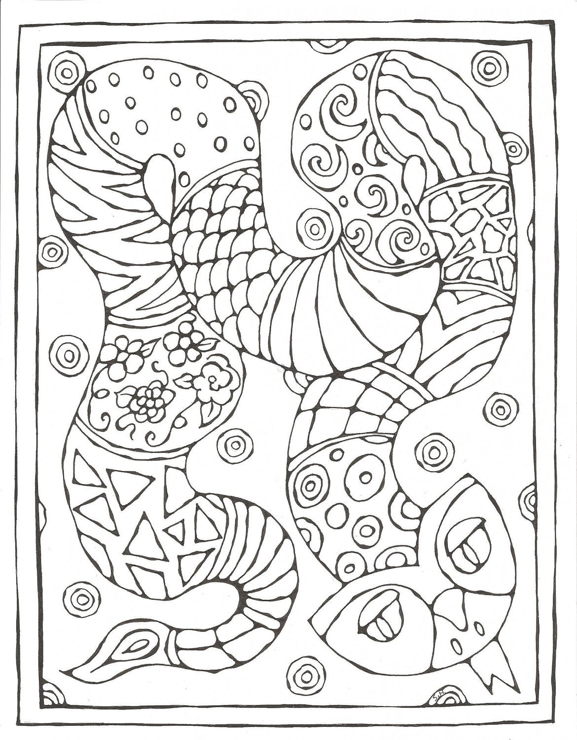 Chinese Zodiac Printable Coloring