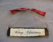 Handmade Primitive Christmas Ornament   Free Shipping