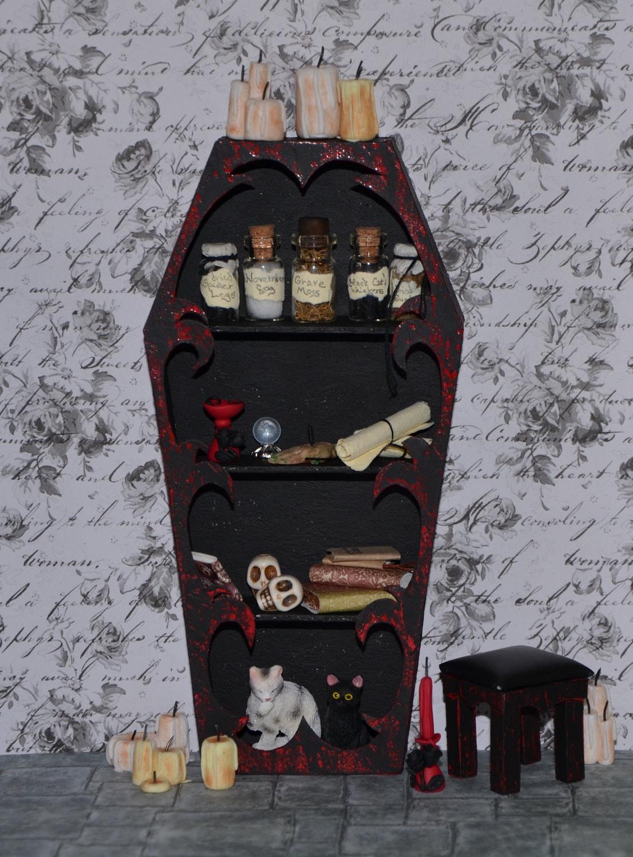 Miniature Vampire Goth Witch Bookcase