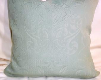 Decorative Pillow Cover - Designer Fabric Pillow Cover - 20x20 - Smoked Aqua