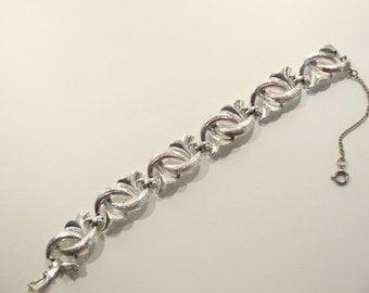 Ornate Vintage Coro Silver Tone Bracelet