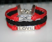 Bracelet infinity love bracelet infinity wishes gift for girlfriend/friends/girls BBF