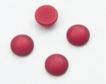 4 Piece of Polaris cabochons 10 mm, Ruby Red