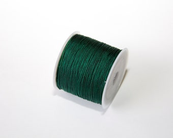 10m of Nylon Thread Cord, smaragdgreen