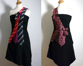 Bespoke Tie Dress  - Made to Measure - Your choice of colours