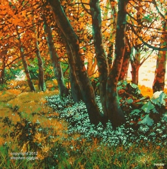 "Art Print Landscape Ireland Autumn Colours ""Copper Glow"""