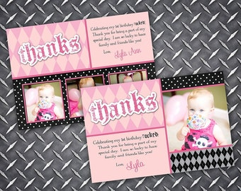 Lil Rockstar Angel Thank You Card