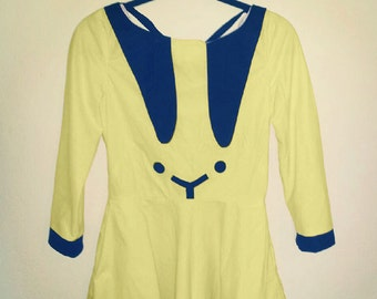 canary yellow bunny dress MADE TO ORDER