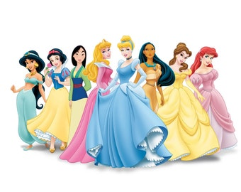 Disney Princesses T-Shirt Iron on Transfer w/FREE Personalization and FREE SHIPPING