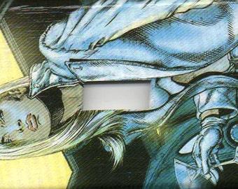 Switchplate - Emma Frost - White Queen - Xmen - New Mutants - Evil Mutants - Martini - Comic Book Art - Magneto - Wolverine - Dark Phoenix