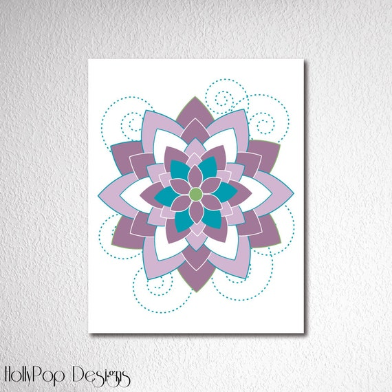Purple Teal Wall Decor : Purple teal nursery art girls wall decor by hollypopdesigns