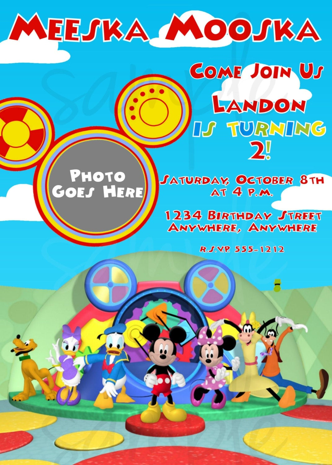 Mickey Mouse Clubhouse Birthday Invitation by LoveLifeInvites